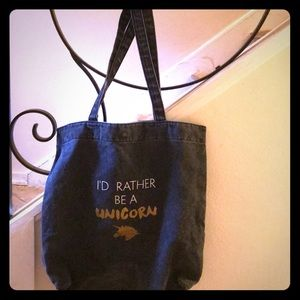 "Missmo tote bag ""I'd rather be a unicorn"""